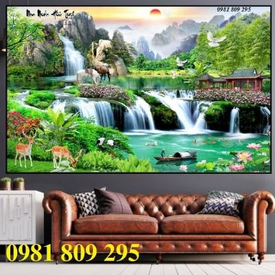 Gạch trang trí  3d phong cảnh thiên nhiên