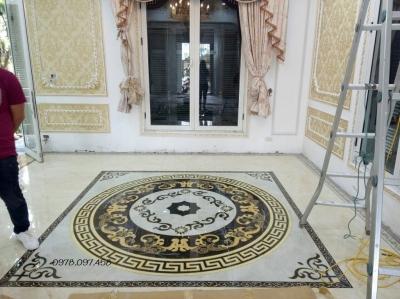 Gạch sàn 3d trang trí phòng khách
