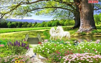 tranh gạch men 3d phong cảnh - MM84