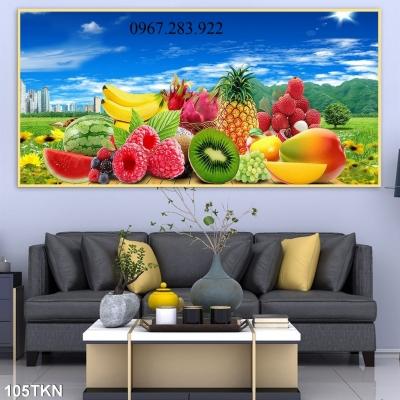 Tranh ốp phòng bếp- Tranh hoạ tiết hoa quả trang trí