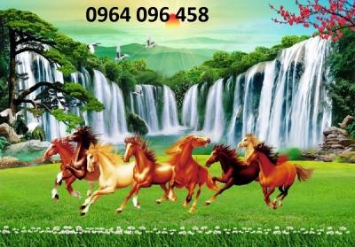 tranh 3d phong thủy mẫu tranh con ngựa