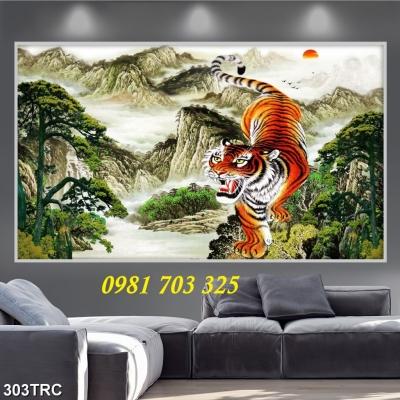 gạch tranh phong thủy, tranh con hổ con cọp