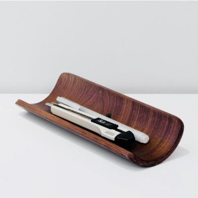 Khay đựng bút và dụng cụ bằng gỗ Walnut Plywood