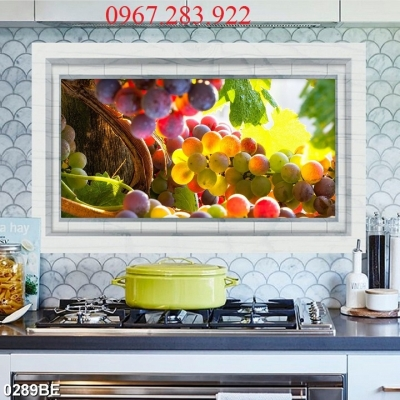 Tranh hoạ tiết hoa quả phòng bếp