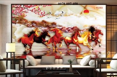 Tranh ốp tường - tranh gạch ngựa