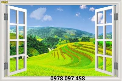 Gạch tranh khung cửa sổ