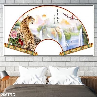 Tranh 3D Hổ- Tranh gạch ốp tường