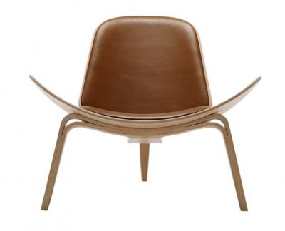 Ghế Shell gỗ sồi plywood