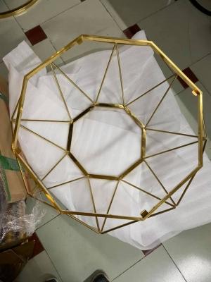 Bàn trà kim cương mạ vàng PVD
