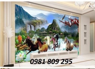Tranh gạch , tranh ngựa trang trí phòng