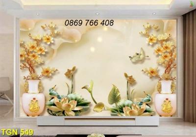 Tranh gạch 3D sứ ngọc-tranh gạch men