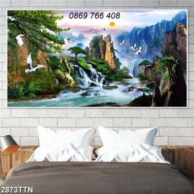 Tranh phong cảnh-gạch tranh sơn thủy