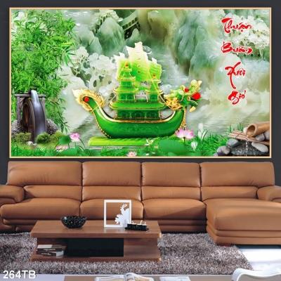 Tranh ốp tường trang trí- Tranh thận buồm xuôi gió
