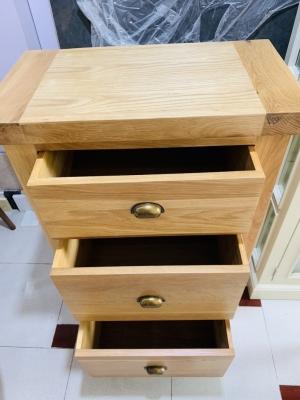 Tủ đứng gỗ sồi 3 ngăn