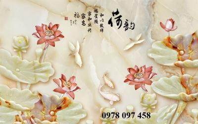 Tranh gạch - tranh hoa 3D