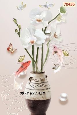 Tranh gạch - tranh bình hoa