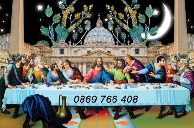 Tranh gạch-tranh 3D Công Giáo