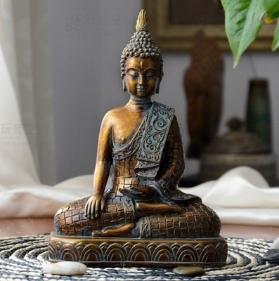 Tượng Phật Ngồi Màu Đồng