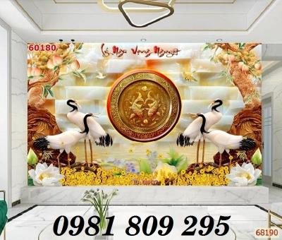 Gạch tranh 3d tùng hạc - tranh chim hạc AN83