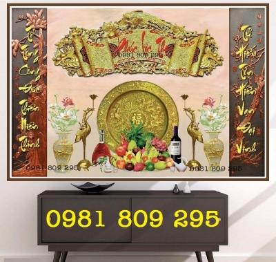 Mẫu tranh gach 3d bàn thờ trang trí