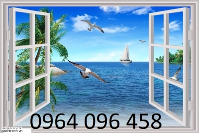 Mẫu tranh gạch 3d cửa sổ - GDS21