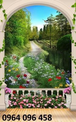 gạch tranh phong cảnh 3d- tranh gạch phong cảnh 3d