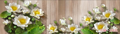 Kính bếp 3d Hoa hiện đại TRẺ TRUNG - NĂNG ĐỘNG