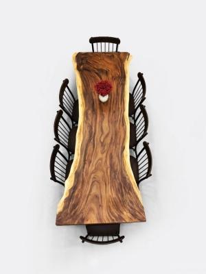 Bàn gỗ Me Tây Nguyên Khối dài 2m4