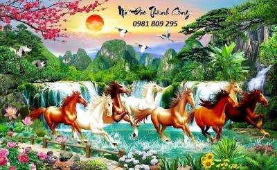 tranh ngựa - gạch tranh ngựa 3d