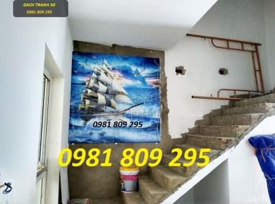 Gạch tranh ,tranh gạch thuận buồm xuôi gió