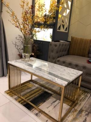 Bàn trà sofa mạ vàng chữ nhật