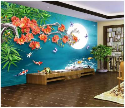 Tranh gạch 3D phong cảnh phòng khách