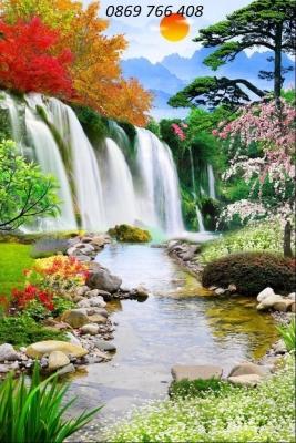 Tranh phong cảnh-Gạch tranh phong cảnh đứng