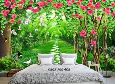 Tranh phong ngủ-Gạch tranh phong cảnh