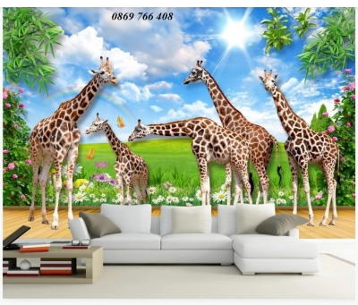 Tranh phòng khách-Tranh gạch men 3D phong cảnh