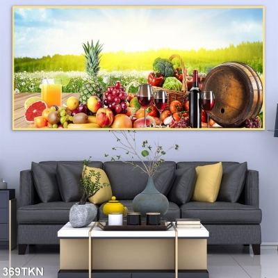 Tranh trang trí nhà bếp- Tranh hoạ tiết hoa quả