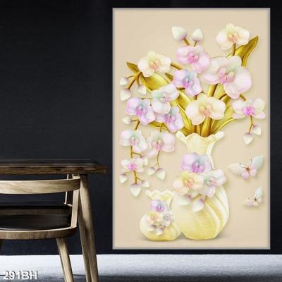 Tranh gạch bình hoa đẹp