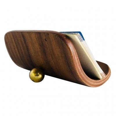 Khay Đựng Danh Thiếp bằng gỗ Walnut Plywood